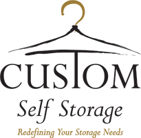 logo, custom self storage