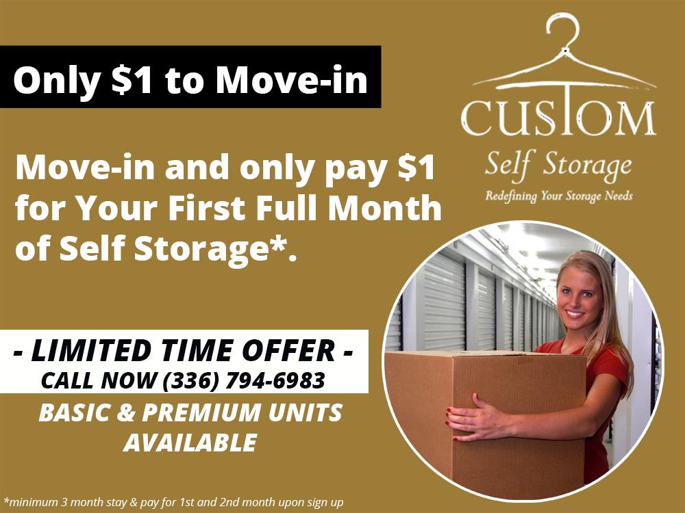 storage promo, storage deals
