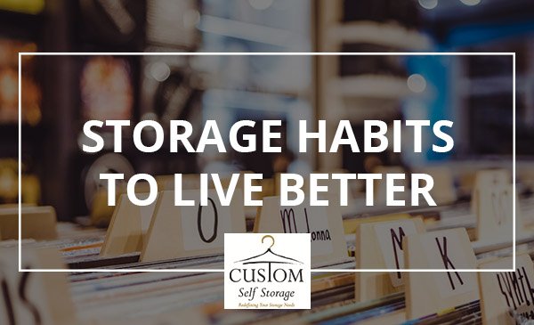 storage habits, organize, records