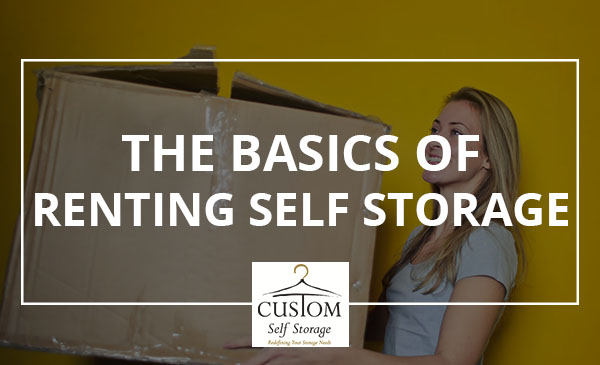 storage basics, renting