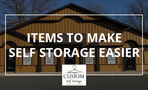 retail items, self storage