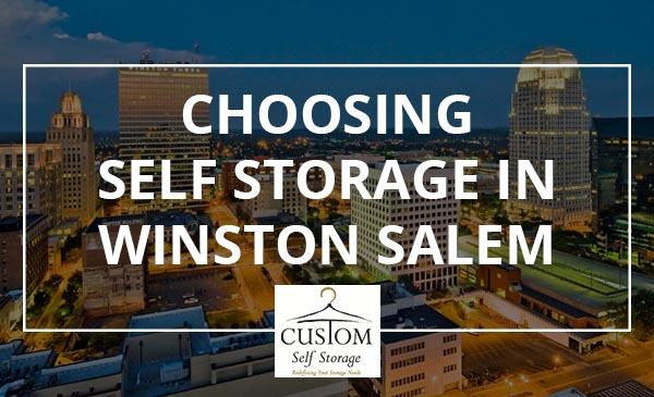self storage, winston salem, city