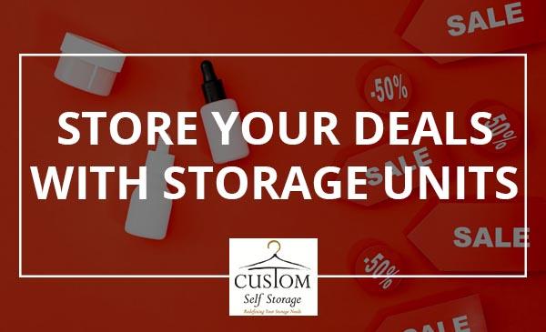 great deals, storage units