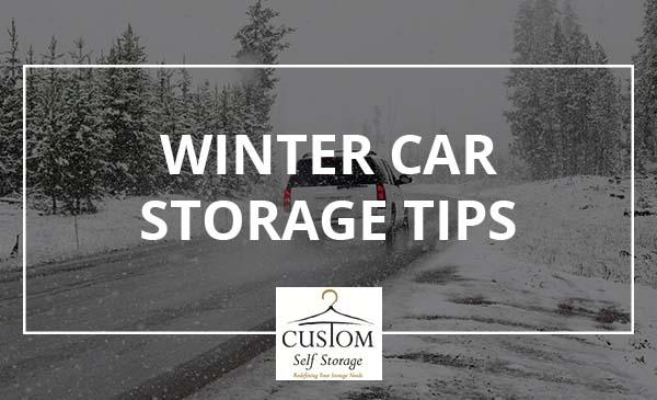 winter, car, storage